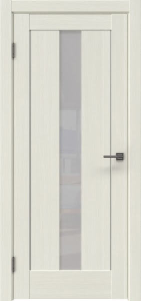Межкомнатная дверь RM043 (экошпон «эш вайт мелинга» / лакобель белый)
