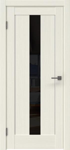 Межкомнатная дверь RM043 (экошпон «эш вайт мелинга» / лакобель черный)