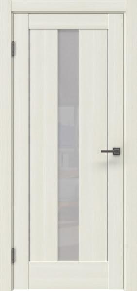 Межкомнатная дверь RM043 (экошпон «сандал белый» / лакобель белый)