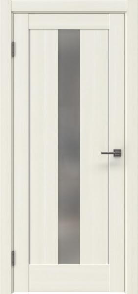 Межкомнатная дверь RM043 (экошпон «сандал белый» / матовое стекло)