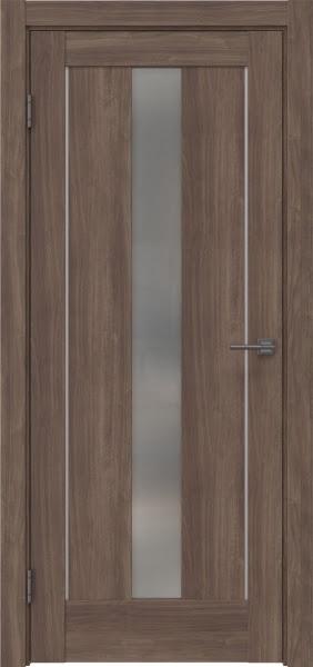 Межкомнатная дверь RM043 (экошпон «античный орех» / матовое стекло)