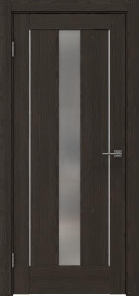 Межкомнатная дверь RM043 (экошпон «венге мелинга» / матовое стекло)