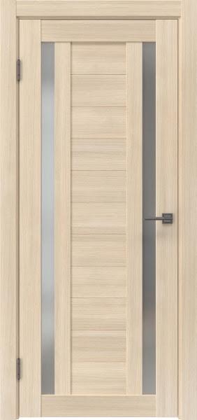 Межкомнатная дверь RM045 (экошпон «капучино мелинга» / матовое стекло)