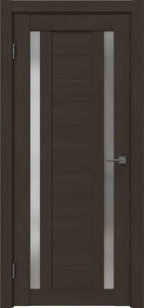 Межкомнатная дверь RM045 (экошпон «мокко» / матовое стекло)