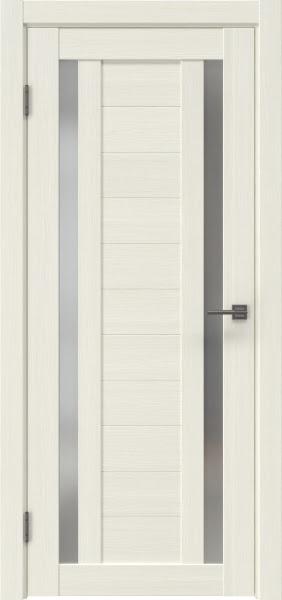 Межкомнатная дверь RM045 (экошпон «эш вайт мелинга» / матовое стекло)