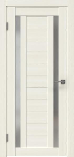 Межкомнатная дверь RM045 (экошпон «сандал белый» / матовое стекло)