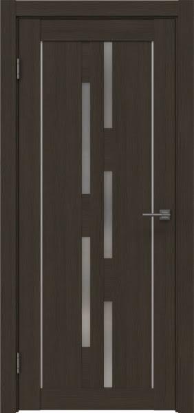Межкомнатная дверь RM046 (экошпон «мокко» / матовое стекло)