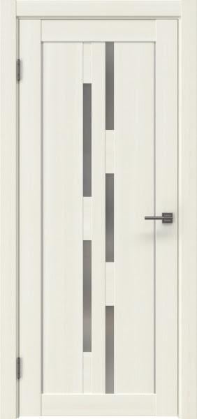 Межкомнатная дверь RM046 (экошпон «сандал белый» / матовое стекло)