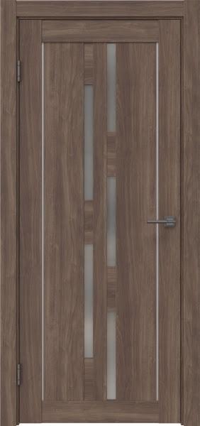Межкомнатная дверь RM046 (экошпон «античный орех» / матовое стекло)