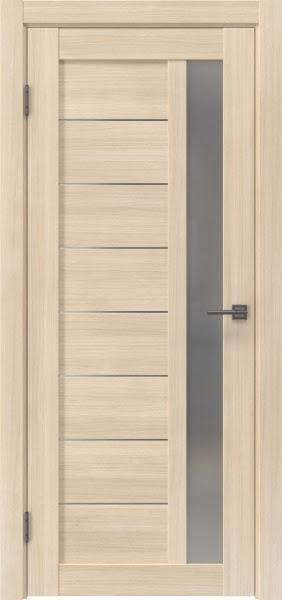 Межкомнатная дверь RM047 (экошпон «капучино мелинга» / матовое стекло)