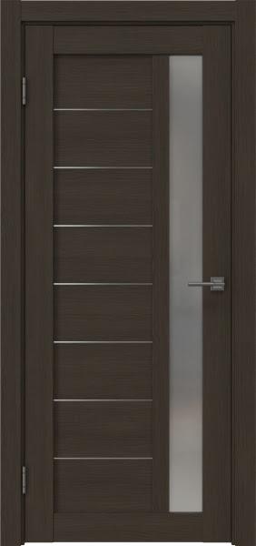 Межкомнатная дверь RM047 (экошпон «мокко» / матовое стекло)