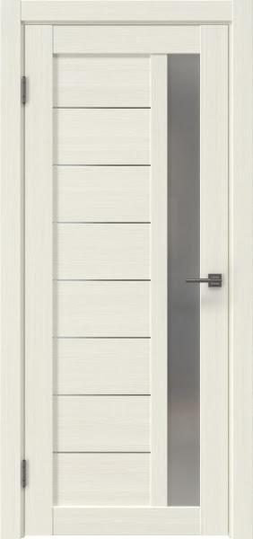 Межкомнатная дверь RM047 (экошпон «эш вайт мелинга» / матовое стекло)