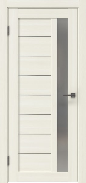 Межкомнатная дверь RM047 (экошпон «сандал белый» / матовое стекло)