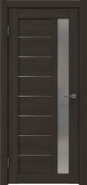 Межкомнатная дверь RM047 (экошпон «венге мелинга» / матовое стекло)