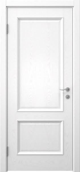Межкомнатная дверь SK002 (шпон ясень белый / глухая)