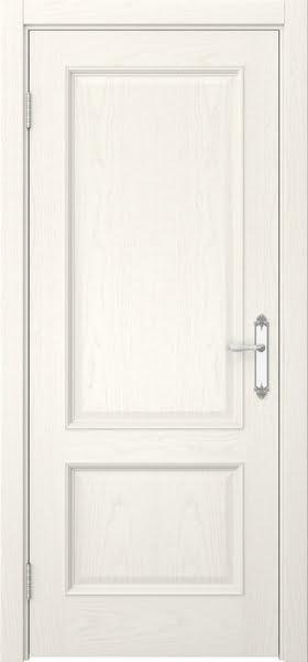 Межкомнатная дверь SK002 (шпон ясень слоновая кость / глухая)