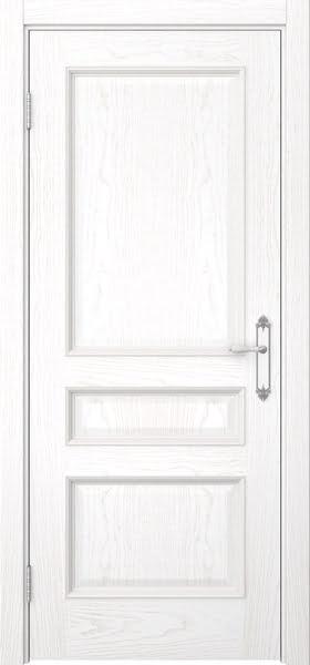 Межкомнатная дверь SK003 (шпон ясень белый / глухая)