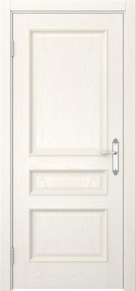 Межкомнатная дверь SK003 (шпон ясень слоновая кость / глухая)