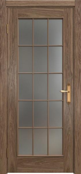 Межкомнатная дверь SK005 (шпон американский орех / матовое стекло)