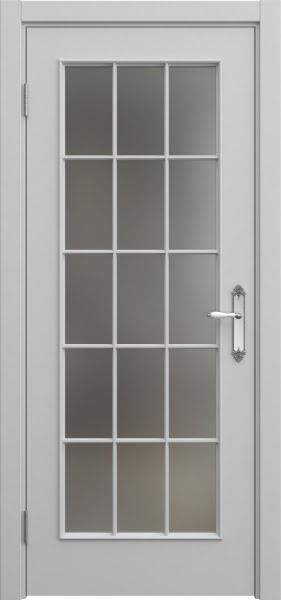 Межкомнатная дверь SK005 (эмаль серая / матовое стекло)