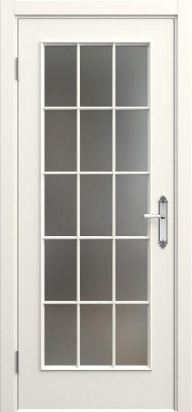 Межкомнатная дверь SK005 (эмаль слоновая кость / матовое стекло)