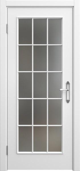 Межкомнатная дверь SK005 (эмаль белая / матовое стекло)