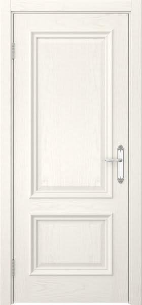 Межкомнатная дверь SK006 (шпон ясень слоновая кость / глухая)