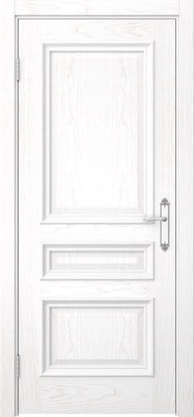 Межкомнатная дверь SK007 (шпон ясень белый / глухая)