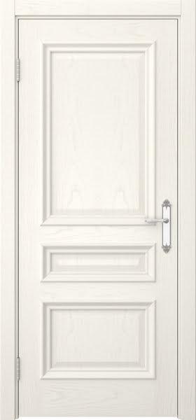 Межкомнатная дверь SK007 (шпон ясень слоновая кость / глухая)