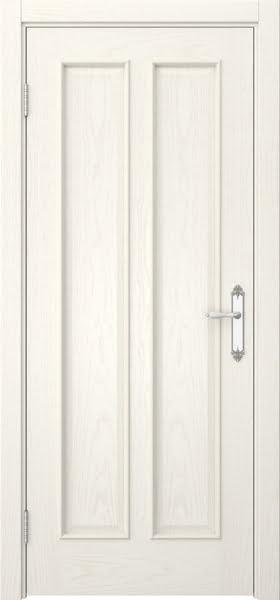 Межкомнатная дверь SK008 (шпон ясень слоновая кость / глухая)