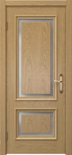 Межкомнатная дверь SK009 (натуральный шпон дуба / матовое стекло)