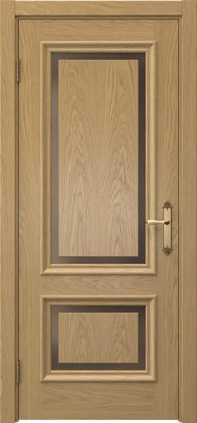 Межкомнатная дверь SK009 (натуральный шпон дуба / стекло бронзовое)