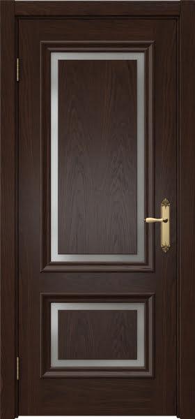 Межкомнатная дверь SK009 (шпон дуб коньяк / матовое стекло)