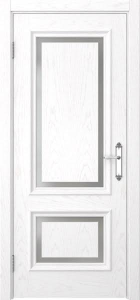 Межкомнатная дверь SK009 (шпон ясень белый / матовое стекло)