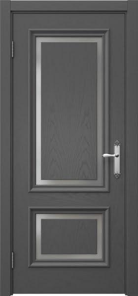 Межкомнатная дверь SK009 (шпон ясень серый / матовое стекло)