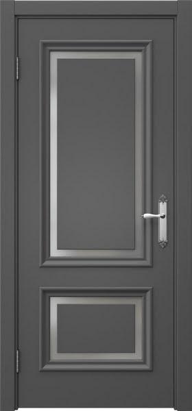 Межкомнатная дверь SK009 (эмаль серая / матовое стекло)