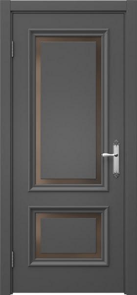 Межкомнатная дверь SK009 (эмаль серая / стекло бронзовое)