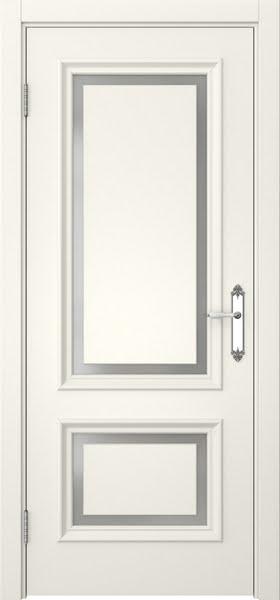 Межкомнатная дверь SK009 (эмаль слоновая кость / матовое стекло)