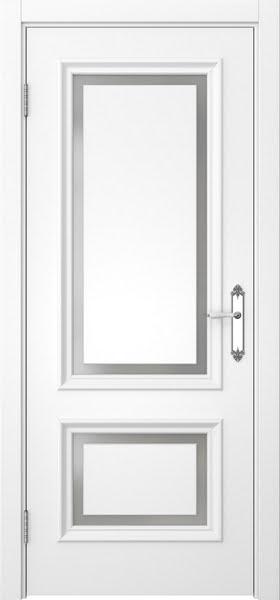 Межкомнатная дверь SK009 (белая эмаль / матовое стекло)