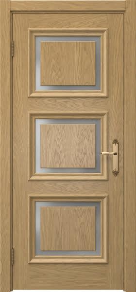 Межкомнатная дверь SK010 (натуральный шпон дуба / матовое стекло)
