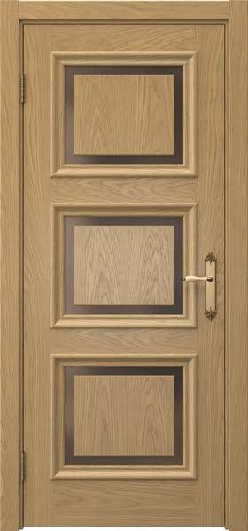 Межкомнатная дверь SK010 (натуральный шпон дуба / стекло бронзовое)