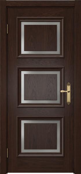 Межкомнатная дверь SK010 (шпон дуб коньяк / матовое стекло)