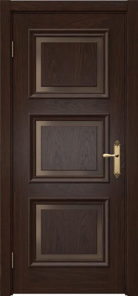 Межкомнатная дверь SK010 (шпон дуб коньяк / стекло бронзовое)