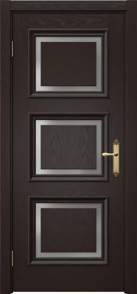 Межкомнатная дверь SK010 (шпон ясень темный / матовое стекло)