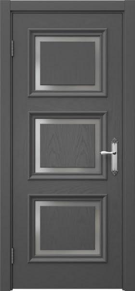 Межкомнатная дверь SK010 (шпон ясень серый / матовое стекло)