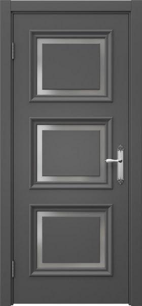 Межкомнатная дверь SK010 (эмаль серая / матовое стекло)