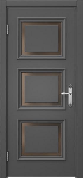 Межкомнатная дверь SK010 (эмаль серая / стекло бронзовое)