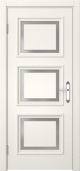 Межкомнатная дверь SK010 (эмаль слоновая кость / матовое стекло)