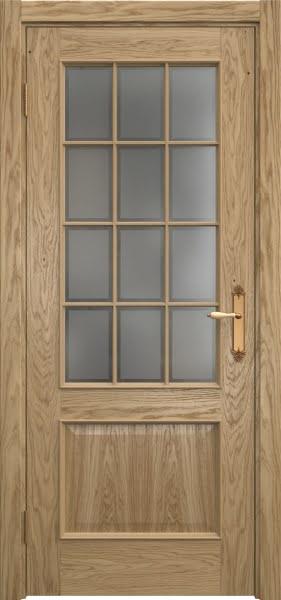 Межкомнатная дверь SK011 (натуральный шпон дуба / стекло рамка)