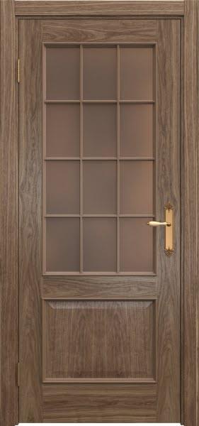Межкомнатная дверь SK011 (шпон американский орех / стекло бронзовое)